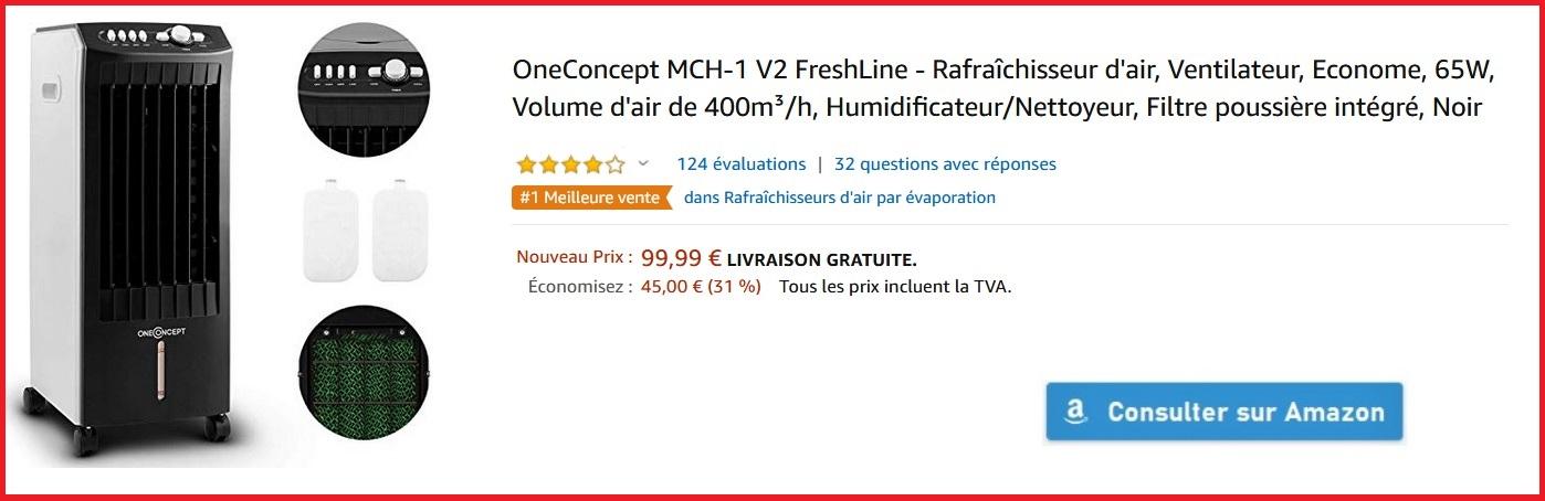 Rafraîchisseur d'air OneConcept MCH-1 V2 FreshLine